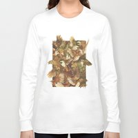 bird Long Sleeve T-shirts featuring Red-Throated, Black-capped, Spotted, Barred by Teagan White