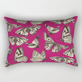 summer butterflies pink Rectangular Pillow