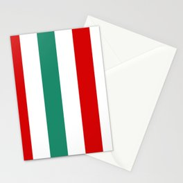 Large Peppermint Stick Stripes | Red Green and White | Vertical  Stationery Cards