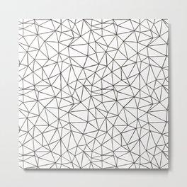 Scandinavian Polygon simple Metal Print