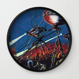 War of the Worlds 1 Wall Clock