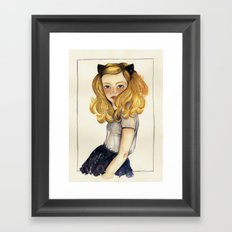 Olivia and the Halloween Framed Art Print