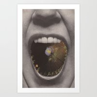 UNTITLED (collage Collaboration with Hugo Barros) Art Print