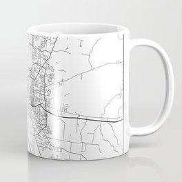 Minimal City Maps - Map Of Murfreesboro, Tennessee, United States Coffee Mug