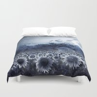 sunflowers Duvet Covers featuring sunflowers by Bekim ART