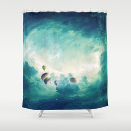 Hot air ballons Shower Curtain