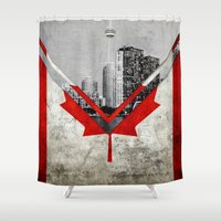 canada Shower Curtains featuring Flags - Canada by Ale Ibanez