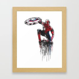 Spider Man, Civil War Framed Art Print