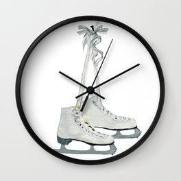 Figure skates Wall Clock