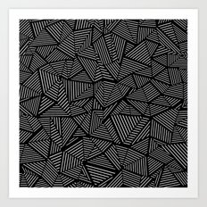Abstraction Linear Art Print