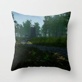 Town in forest Throw Pillow