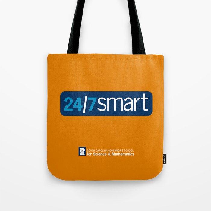 24/7 SMART on orange Tote Bag