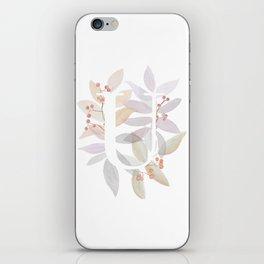 Rustic Watercolor Monogram - Letter U Initial - Colorful Leaves iPhone Skin
