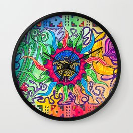 The Blazing Sun Wall Clock