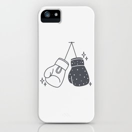 Boxing gloves night and day iPhone Case