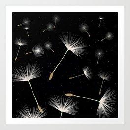 Celestial Dandelions Art Print