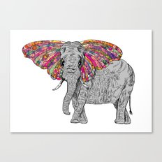 Bella The Happy Butterphant Canvas Print