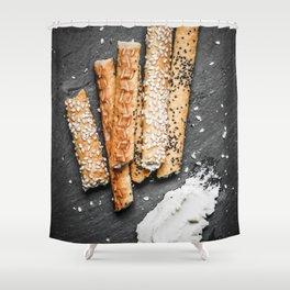 Breadsticks art #food #stilllife Shower Curtain