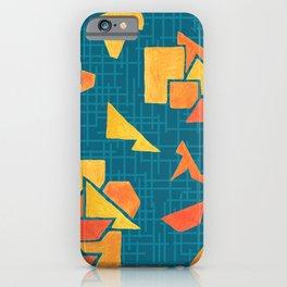 Hand painted geometrics iPhone Case