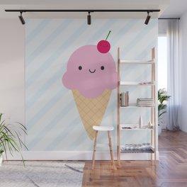 Kawaii Ice Cream Cone Wall Mural
