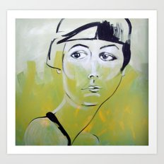 bianca verde Art Print