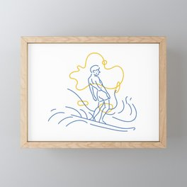 Surfer Framed Mini Art Print