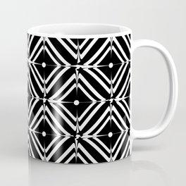 Retro black white square tiles Coffee Mug