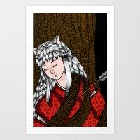 inuyasha Art Prints featuring Inuyasha by nu boniglio
