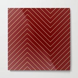 "Geometric print ""Around the Bend"" Metal Print"