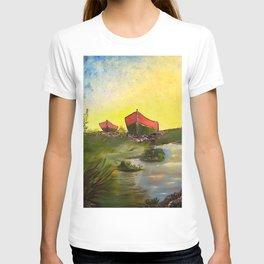 Days End   Oil on Canvas T-shirt