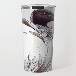 Painted Australian White Ibis Travel Mug