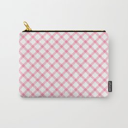 Pink and White Tartan Carry-All Pouch