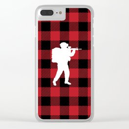 Buffalo Plaid - Soldier Clear iPhone Case