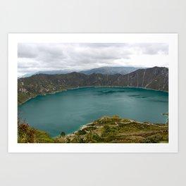 Crater Lake, Ecuador Art Print