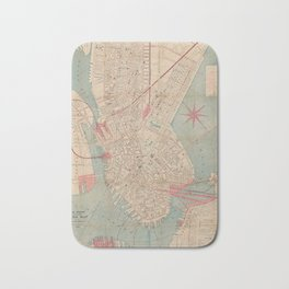 Vintage Map of Boston MA (1882) Bath Mat