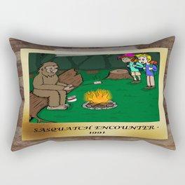 Sasquatch Encounter Rectangular Pillow