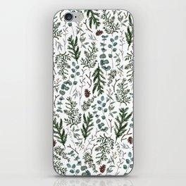 Pine and Eucalyptus Greenery iPhone Skin