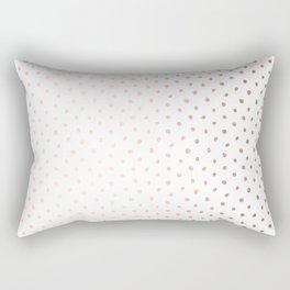 Cool Rose Gold Polka Dots Rectangular Pillow