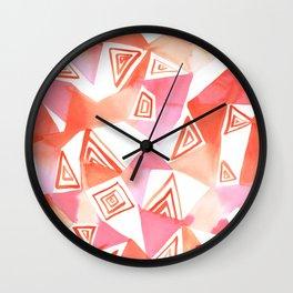 Geo Triangle Peach Wall Clock