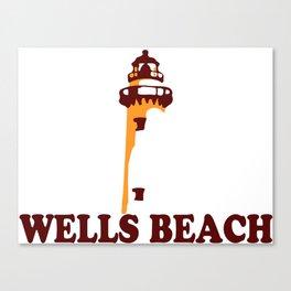 Wells Beach. Canvas Print