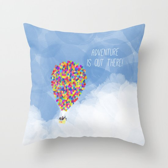 ADVENTURE IS OUT THERE! Throw Pillow