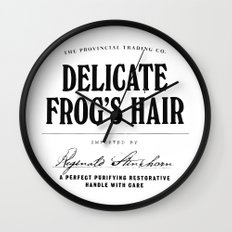 Delicate Frog's Hair Wall Clock