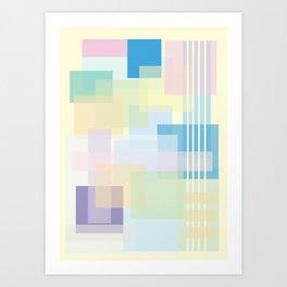 Shape series 1  Art Print