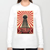 tesla Long Sleeve T-shirts featuring Tesla by Octavia Soldani