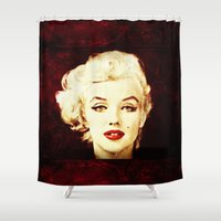 marilyn Shower Curtains featuring Marilyn  by CLE.ArT.