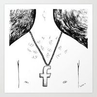 religion Art Prints featuring Fashionable religion by IvaDim