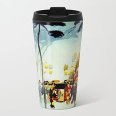 Japanese Covered Litter and Lanterns Metal Travel Mug