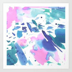 Watercolor Splash Art Print