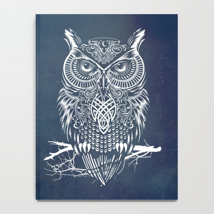 Warrior Owl Night Notebook