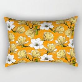 Magnolia garden in yellow Rectangular Pillow